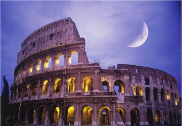 Roman Colosseum night