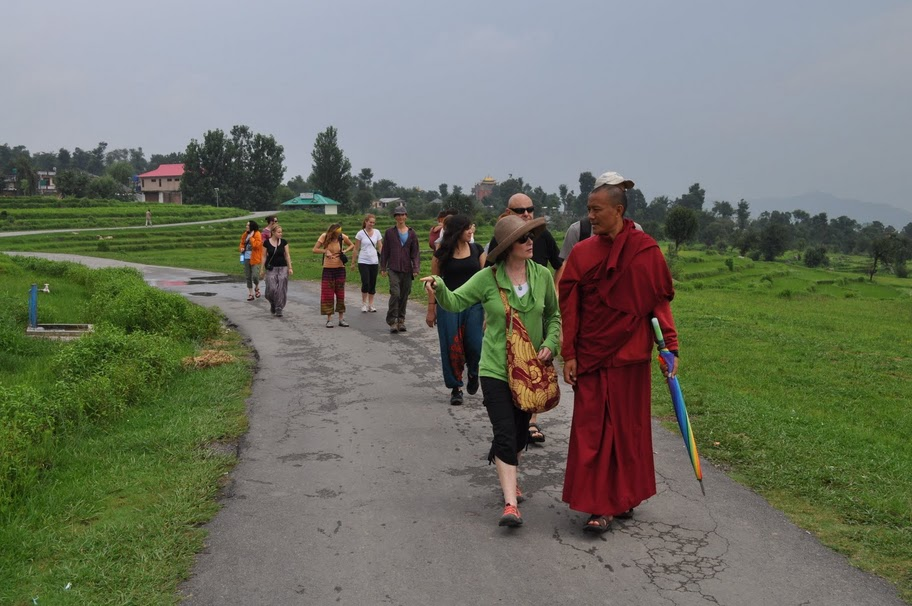 Tsering leading group