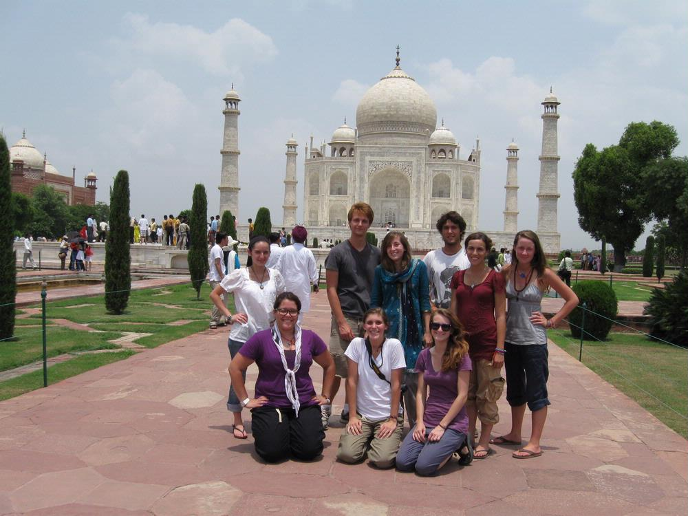 Students Taj Mahal